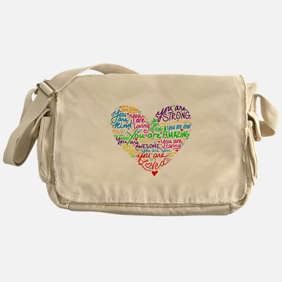 You Are Loved Messenger Bag