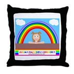 Julia's Rainbow Corner Classi Throw Pillow
