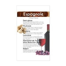 Espagnole Sauce Chart Decal