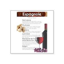 "Espagnole Sauce Chart Square Sticker 3"" x 3"""