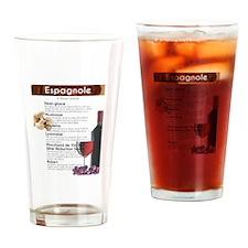 Espagnole Sauce Chart Drinking Glass