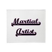 Martial Artist Classic Job Design Throw Blanket