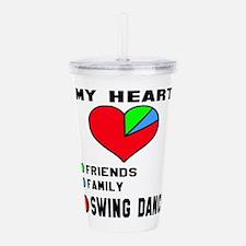 My heart! Friends, Fam Acrylic Double-wall Tumbler