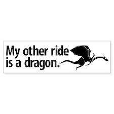Dragon Ride Bumper Bumper Bumper Sticker