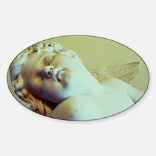 Cute Angel of rest Sticker (Oval)