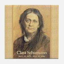 Clara Wieck Schumann Tile Coaster