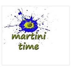 Olive Splat It's Martini Time Poster