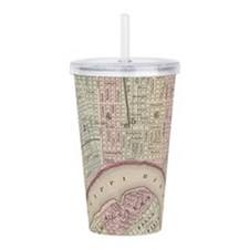 Vintage Map of New Orl Acrylic Double-wall Tumbler