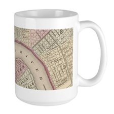 Vintage Map of New Orleans (1880) Mugs