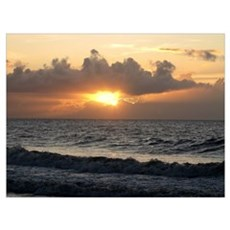 Carolina Beach Sunrise Poster