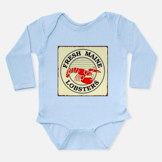Fresh Maine Lobsters Long Sleeve Infant Bodysuit