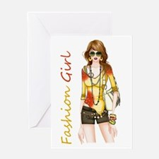 Best Fashion Girl Greeting Cards