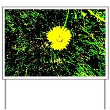 Dandelion in Grass Yard Sign