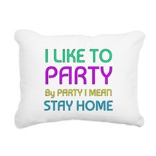 I Like to party Rectangular Canvas Pillow