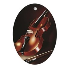 A Red Violin Oval Ornament