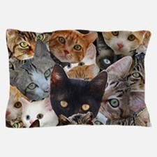 Kitty Collage Pillow Case