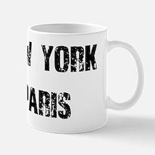 NEW YORK PARIS BLACK VINTAGE Mug