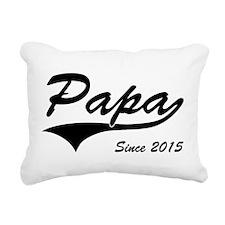Papa Since 2015 Rectangular Canvas Pillow