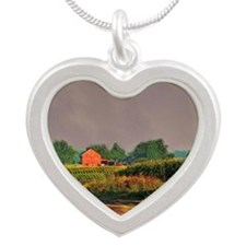 """""""Take Me Home Country Road"""" Silver Heart Necklace"""