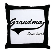 Grandma Since 2015 Throw Pillow