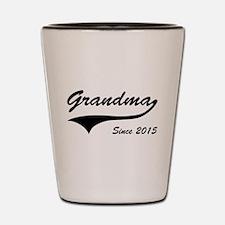 Grandma Since 2015 Shot Glass