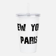 NEW YORK PARIS BLACK V Acrylic Double-wall Tumbler