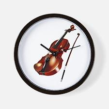 Red Violin Wall Clock