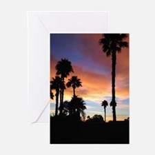 Palm Springs Sunset Greeting Cards
