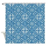 Delft Blue And White Shower Curtain