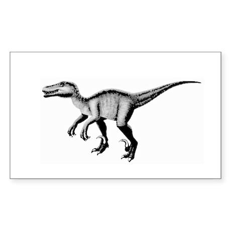 Velociraptor Rectangle Sticker
