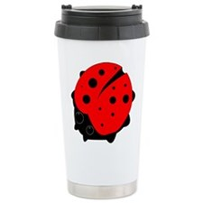 Ladybug on a Travel Coffee Mug