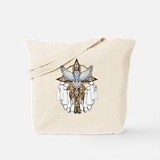 Snowy Owl Mandala Tote Bag