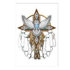 Snowy Owl Mandala Postcards (package Of 8)