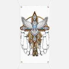 Snowy Owl Mandala Banner