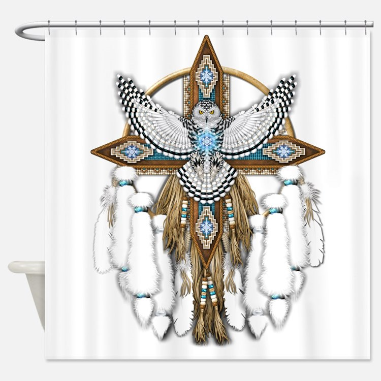 Snowy Owl Shower Curtains Snowy Owl Fabric Shower