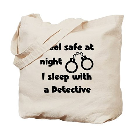 Sleep with Detective Tote Bag