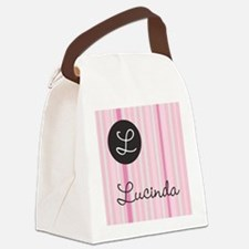 PINK Name Monogram Canvas Lunch Bag