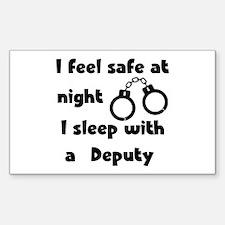 Sleep with a Deputy Rectangle Decal