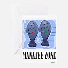 Manatee Zone Greeting Cards (Pk of 10)
