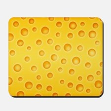 Swiss Cheese Cheezy Texture Pattern Mousepad