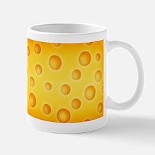 Swiss Cheese Cheezy Texture Pattern Mugs
