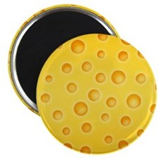 Swiss Cheese Cheezy Texture Pattern Magnets