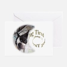 Sleeping Dog- Dog Tired 2 Greeting Cards (Package