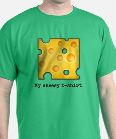Swiss Cheese Cheezy Texture Pattern T-Shirt