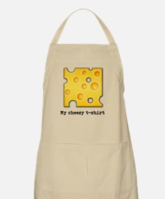 Swiss Cheese Cheezy Texture Pattern Apron