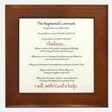 Baptismal Covenant Framed Tile