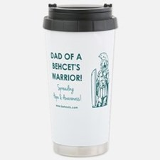 DAD OF A WARRIOR Stainless Steel Travel Mug