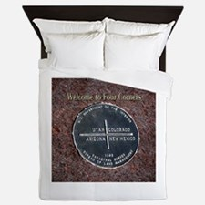 Four Corners Monument in Navajo Nation Queen Duvet