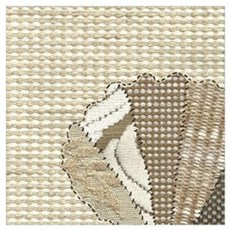 Stitched Faux Fabric Scallop Seashell Poster
