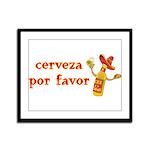 Cerveza Por Favor @Scott Designs Framed Panel Prin
